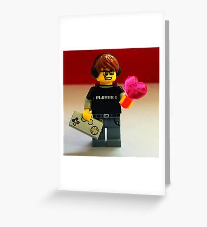 Lego Gamer Valentines Greeting Card