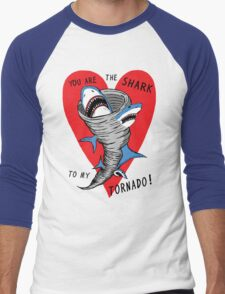 Shark To My Tornado Men's Baseball ¾ T-Shirt