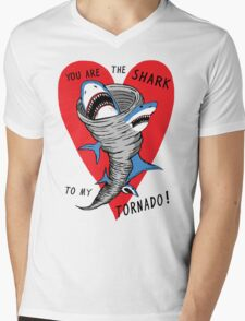 Shark To My Tornado Mens V-Neck T-Shirt