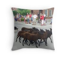 Working Throw Pillow