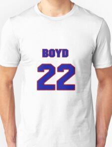 National Hockey player Boyd Kane jersey 22 T-Shirt