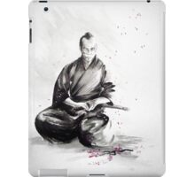 Samurai sign, japanese warrior ink drawing, mens gift idea large poster iPad Case/Skin