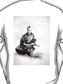 Samurai sign, japanese warrior ink drawing, mens gift idea large poster T-Shirt