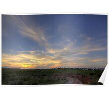 Sunset- Post, TX Poster
