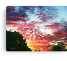 Pink Over The Sherry Canvas Print