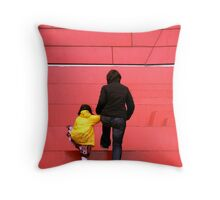 The Red Steps Throw Pillow