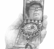 Field scientist drawing 2 by Mike Theuer