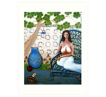 In a Relaxing and Peaceful Moment Art Print
