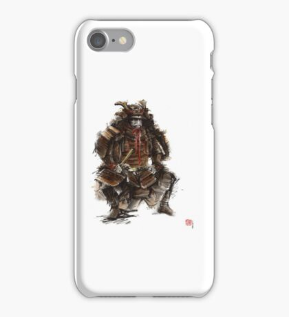 Samurai armor, japanese warrior old armor, samurai portrait, japanese ilustration art print iPhone Case/Skin
