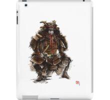 Samurai armor, japanese warrior old armor, samurai portrait, japanese ilustration art print iPad Case/Skin