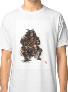 Samurai armor, japanese warrior old armor, samurai portrait, japanese ilustration art print Classic T-Shirt