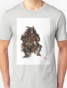 Samurai armor, japanese warrior old armor, samurai portrait, japanese ilustration art print Unisex T-Shirt