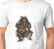 Samurai armor, japanese warrior old armor, samurai portrait, japanese ilustration art print Unisex T-Shirt