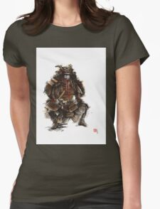 Samurai armor, japanese warrior old armor, samurai portrait, japanese ilustration art print Womens Fitted T-Shirt