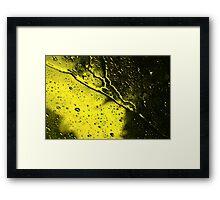Rainstorm on the Windshield Framed Print