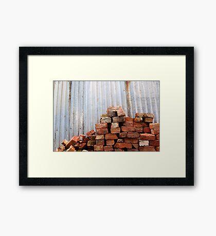 Brick Pile Framed Print