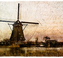 Kinderdijk - Forgotten Postcard 2 by Alison Cornford-Matheson