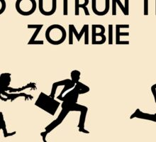 Zombie Outrun Sticker