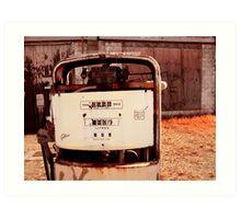 Crusty Petrol Pump Art Print