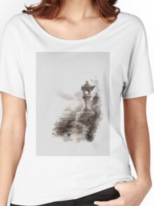 Japanese lantern ink painting, mens gift idea, japan landscape painting Women's Relaxed Fit T-Shirt