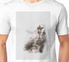 Japanese lantern ink painting, mens gift idea, japan landscape painting Unisex T-Shirt