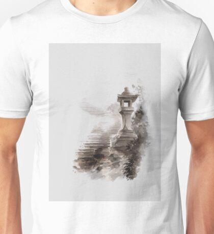 Japanese lantern ink painting, mens gift idea, japan landscape painting Unisex T-Shirt