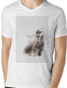 Japanese lantern ink painting, mens gift idea, japan landscape painting Mens V-Neck T-Shirt