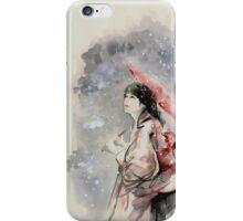 Geisha sign room decoration, japanese woman wall print, geisha figurine large poster iPhone Case/Skin
