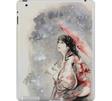 Geisha sign room decoration, japanese woman wall print, geisha figurine large poster iPad Case/Skin