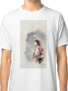 Geisha sign room decoration, japanese woman wall print, geisha figurine large poster Classic T-Shirt