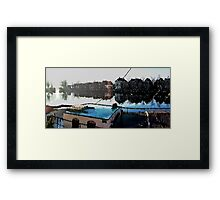 Dutch harbor in wintertime Framed Print