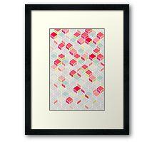 CUBE PINK Framed Print