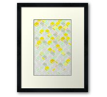 CUBE YELLOW Framed Print