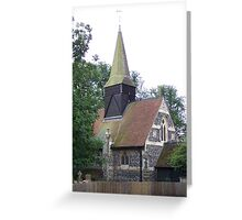 All Saints Church Footscray  Front View Greeting Card