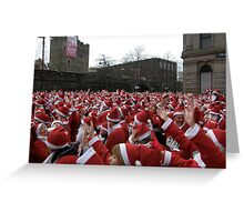 Will the real Santa Claus put their hand up? Greeting Card
