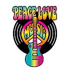 Vinyl Peace-Love-Music by Lisann