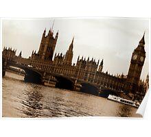 London Waterways Poster