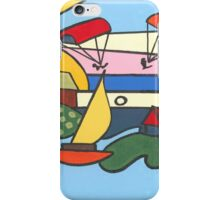 Abstract Light House in Reds and Blues iPhone Case/Skin