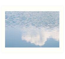 Wind on Light Blue Water Art Print