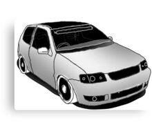 VW Polo 6n2, minimal digital sketch Canvas Print