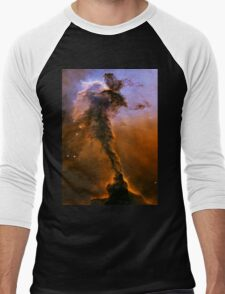 Yellow Galaxy Men's Baseball ¾ T-Shirt