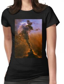 Yellow Galaxy Womens Fitted T-Shirt