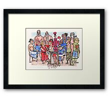 Street Fighter 2 - Reunion Edition Framed Print