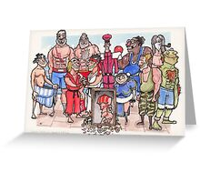 Street Fighter 2 - Reunion Edition Greeting Card
