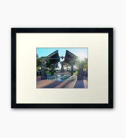 Anzac park Townsville, HDR Framed Print