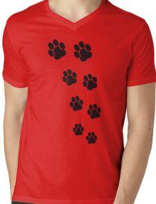 Animal Footsteps Mens V-Neck T-Shirt
