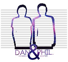Dan Howell & Phil Lester Galaxy Outline by scruffyjate