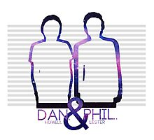 Dan Howell & Phil Lester Galaxy Outline Photographic Print
