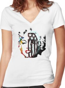 American Beauty / American Psycho - Fall Out Boy - Marylin Monroe Women's Fitted V-Neck T-Shirt