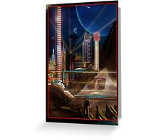 Neon City Greeting Card